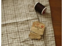 *F539(10)* C/Linen: Zakka Checks (yard)