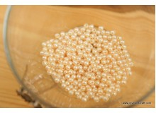 *J129(10/4)* Beads: Pearl beige 4mm