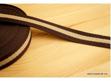 *G206-* Webbing: Khaki brown stripes 3.2cm