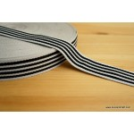 *R420-* Ribbon/webbing: Black/white stripes 2.5cm