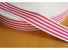 *G155-* Webbing: Navy pink stripes 3.8cm