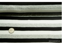 *F188-1002* Rib: Black/white/grey stripes (yard)