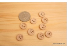 *B234-* Natural wooden button 1.3cm (10pcs)