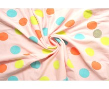 *F188-1460*Jersey: Polka dots on baby pink.(fixed)