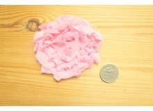 *R490(10/3)* Embroidery patch: Baby pink flower