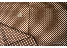 *F372(10)* C/Linen: Polka dots in brown (yard)