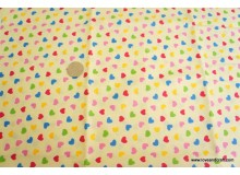 *F417* Cotton: Little loves on yellow (FQ)