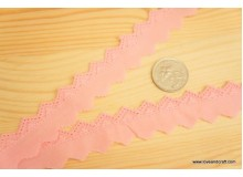 *R386* Bias tape: Triangular pinky fabric lace 2.3cm