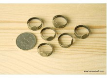 *J116(10/4)* Jewel: Adjustable ring - bronze