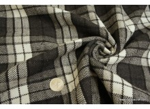 *F471(10)* Cotton: Grey/black checks