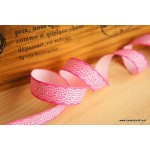 *R271-* Ribbon: Lace in pink 1.5cm