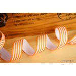 *R273-* Ribbon: Orange stripes 1.5cm