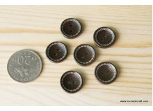 *B189-*Wooden button: Dotted line (8pcs)