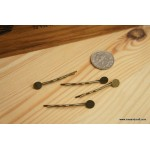 *H133* Hair pin with pad - bronze (10pcs)
