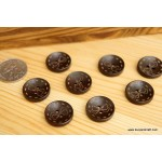 *B248(10/4)* Wooden Button: Dotted bow (2.0cm/6pcs)