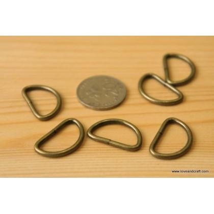 *T00222~* D Ring: Bronze 1.0cm-3.2cm