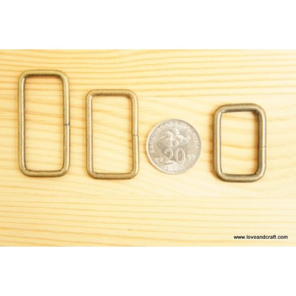 *T00223(10/3)-* Rectangular ring: Bronze 2.0-3.8cm