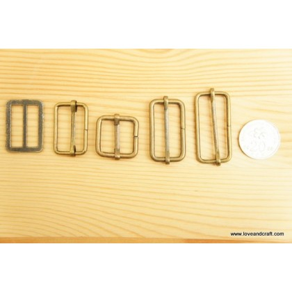 *T00224* Triglide/Slider/Adjuster: Bronze 1.3cm-3.2cm