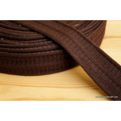 *700205* Webbing: Line in brown 3.8cm