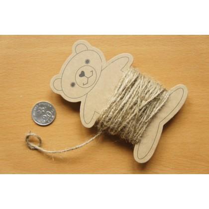 *700168~* Linen string - Brown 10M
