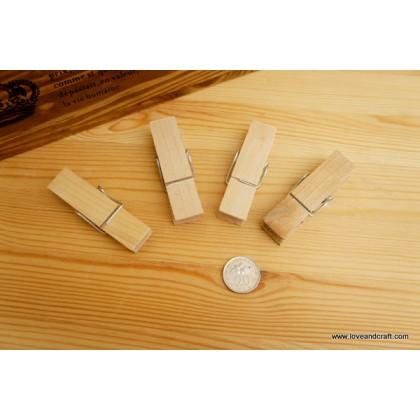 *T00226(10/3)* Wooden clip 7.3cm (4pcs)