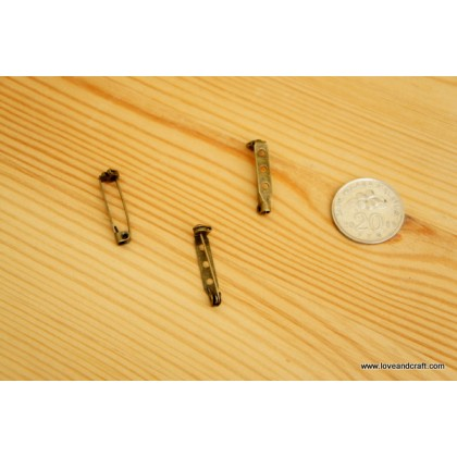 *J00131~* Brooch pin with safety lock (2.7 and 3.5cm)