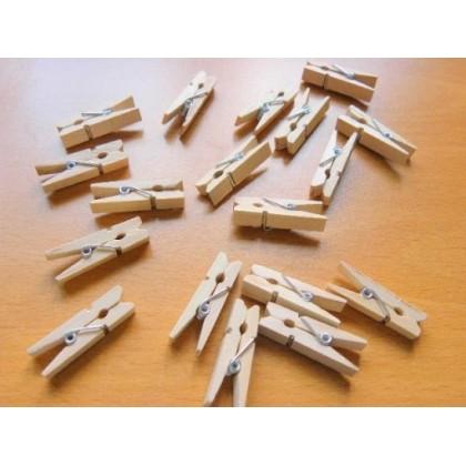*T00170(10/3)* Wooden small clip / peg (18pcs)