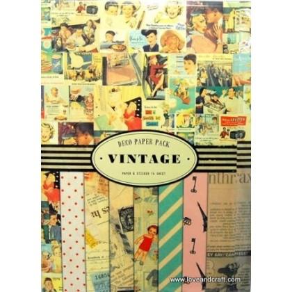 *Z00107* Vintage deco paper pack