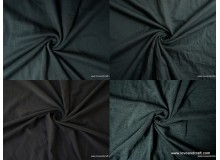 *FN0001(20)-* Knit fabric: Plain Black / Melange Black