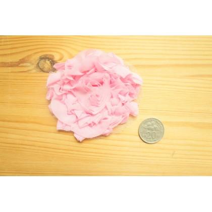 *R490-* Baby pink chiffon flower