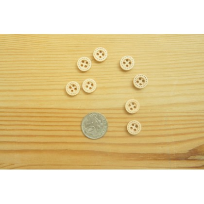 *B00293* Wooden button: Dotted line 1.0cm (8pcs)
