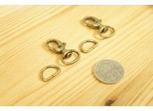 *T260-* Bronze Snap hook and D-ring set (1.3cm/2sets)