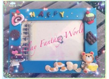 *CC10* Clay class: Teddy baking photo frame