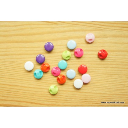 *B00301~* Resin Button: Colorful round 9mm