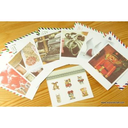 *ZP109(10/3)-* Vintage style mini postcards (10 designs)