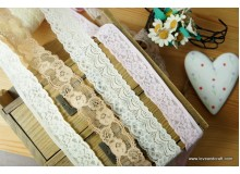 *R00507* Elastic lace: Beautiful flowers 2.8-3.5cm