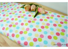 *F691(10)-* Cotton: Colorful polka dots 150cm width