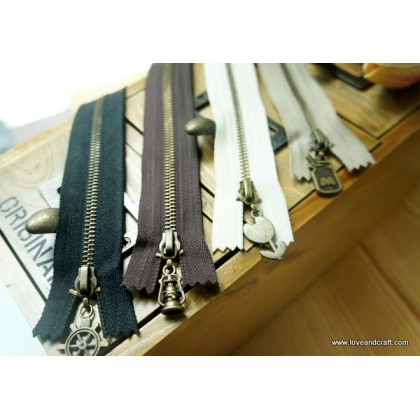 *T00105* Zip: Bronze changeable zip 20cm