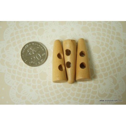 *B00311~* Button: Wooden triangular toggles