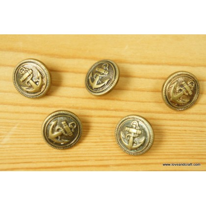 *B00315* Vintage style anchor button 1.5cm