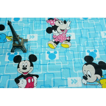 *880746* Cotton: Baby Mickey and Minne 160cm
