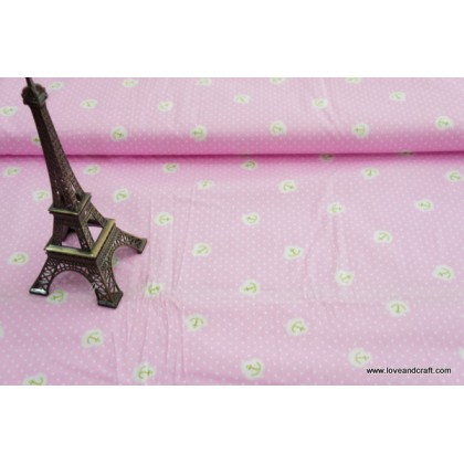 *880753* Cotton: Little anchors on pink 160cm