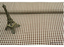 *FL00131* Linen: Brown checks