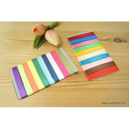 *700527* Satin Ribbon: Assorted colours set