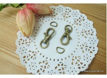*T287(10/3)-* Lobster Hook and D ring set (1.2cm)