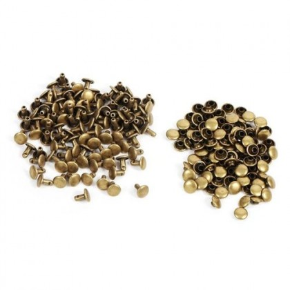 *T00286(10/3)~* Flat rivet Bronze 6-8mm