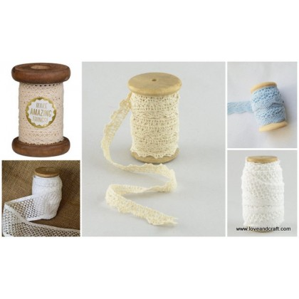 *T00290~* Wooden spool - 10cm and 13cm