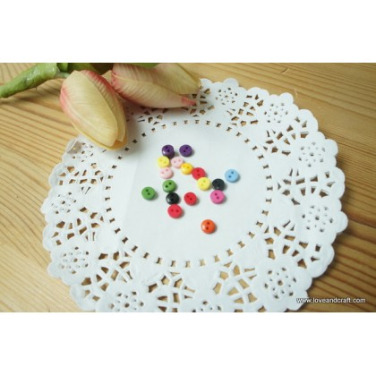 *B00318~* Mini resin button: Colourful 2-hole round 0.5cm