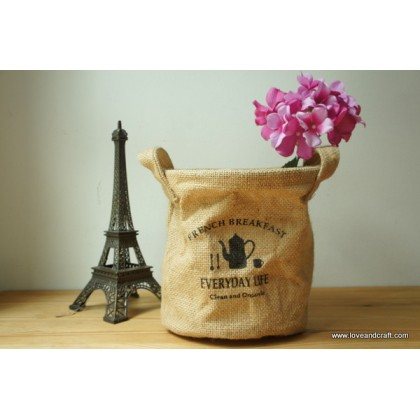 *Z00112* Zakka feel burlap storage bag
