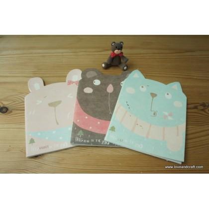 *Z00141* Cute animal notebook (3 designs)
